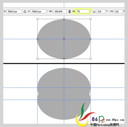 PS绘制金属质感袖珍指南针_亿码酷站___亿码酷站平面设计教程插图4