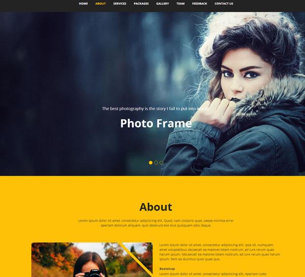 最佳摄影作品网站模板下载_企业官网模板