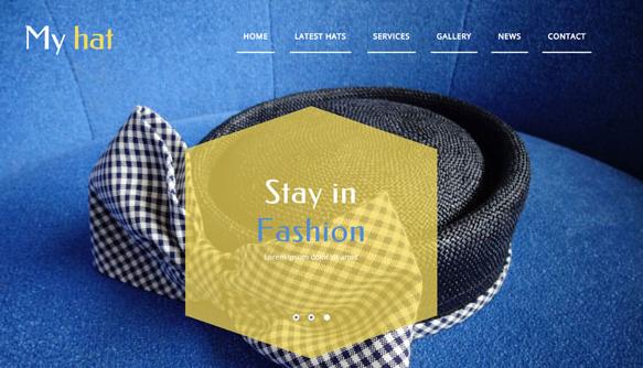 时尚帽子设计公司前端模板_php网站模板