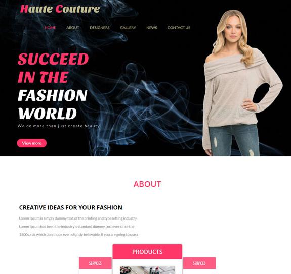 女性时尚产品发布门户网站模板_亿码酷站网站源码下载