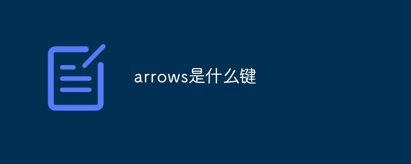 arrows是什么键_编程技术_编程开发技术教程