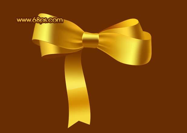 Photoshop制作漂亮的金色礼品结_亿码酷站___亿码酷站平面设计教程插图16