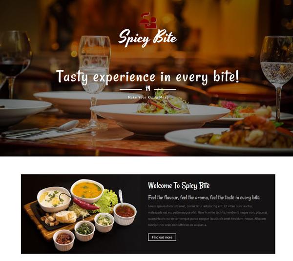 红色大气西餐餐饮网站模板_企业官网模板