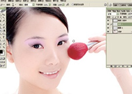 Photoshop为人物加上眼影和睫毛_亿码酷站___亿码酷站平面设计教程插图7