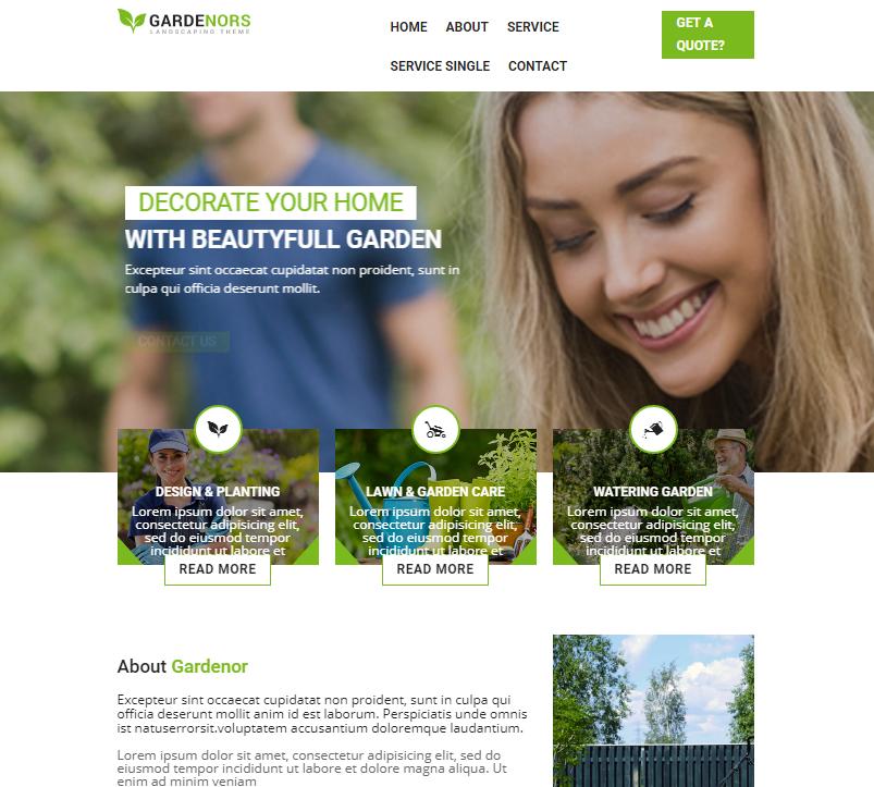 园林绿化服务HTML5网站模板_企业官网模板