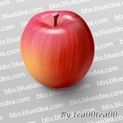 PhotoShop绘制逼真的苹果_亿码酷站___亿码酷站平面设计教程插图