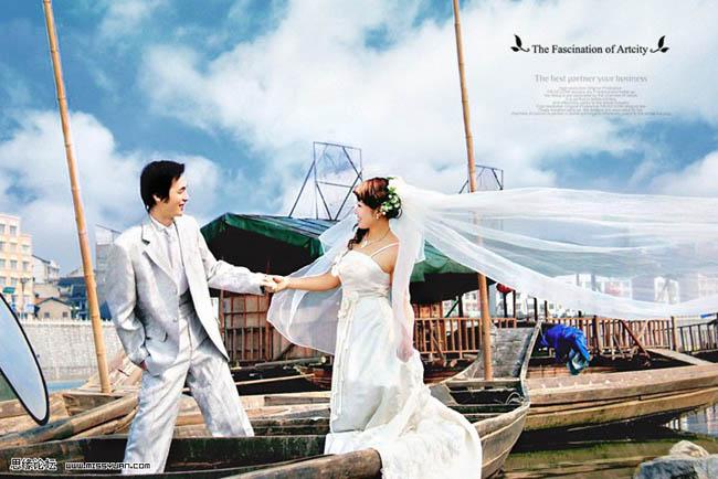 Photoshop修饰婚纱照片细节教程_亿码酷站___亿码酷站平面设计教程插图1