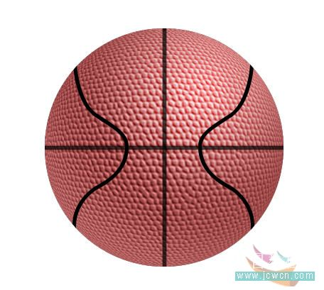 Photoshop滤镜制作逼真的篮球_亿码酷站___亿码酷站平面设计教程插图18