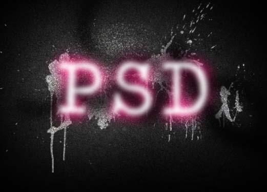 Photoshop制作彩色的涂鸦字效果_亿码酷站___亿码酷站平面设计教程插图7