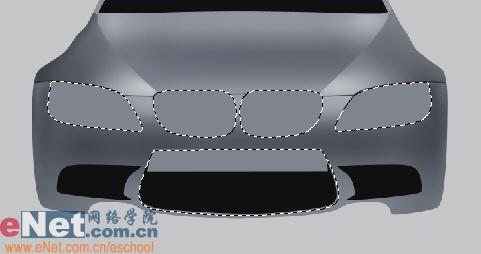 Photoshop鼠绘实例:宝马BMWM3_亿码酷站___亿码酷站平面设计教程插图5