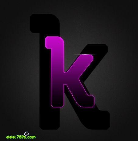 Photoshop制作紫色发光字效果_亿码酷站___亿码酷站平面设计教程插图16