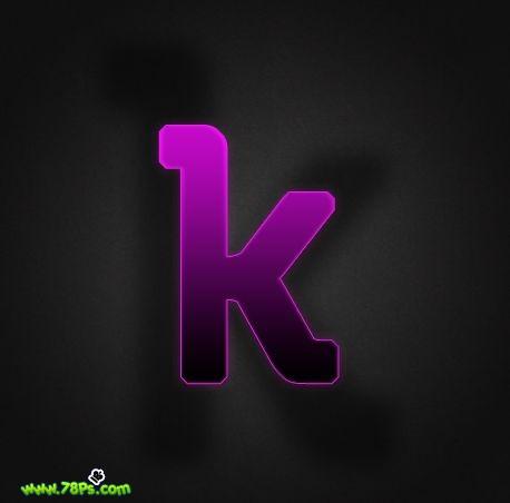 Photoshop制作紫色发光字效果_亿码酷站___亿码酷站平面设计教程插图17