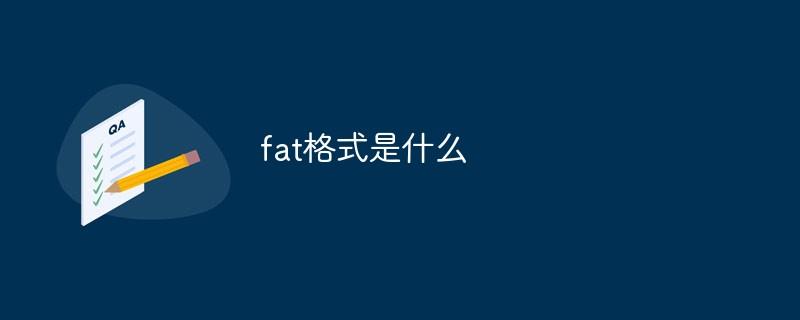 fat格式是什么_编程技术_亿码酷站