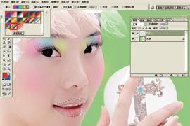 Photoshop给美女加上彩妆及头饰_亿码酷站___亿码酷站平面设计教程插图13