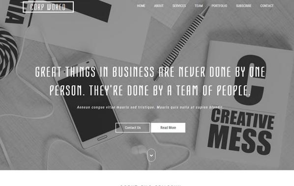 灰白色企业设计网站模板_亿码酷站