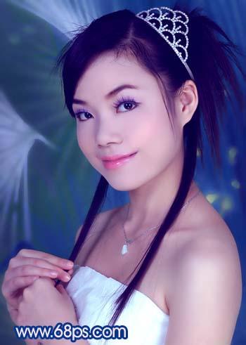 Photoshop调色教程:艳丽蓝色调的人物照片_亿码酷站___亿码酷站平面设计教程插图12