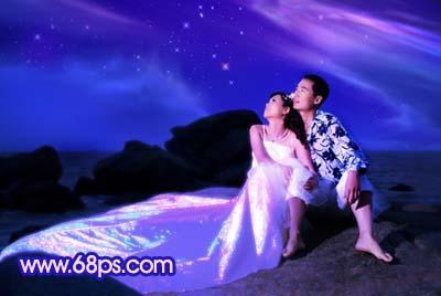 Photoshop打造梦幻色彩的夜景婚纱照_亿码酷站___亿码酷站平面设计教程插图10