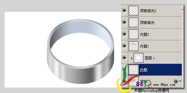 PS绘制金属质感袖珍指南针_亿码酷站___亿码酷站平面设计教程插图12