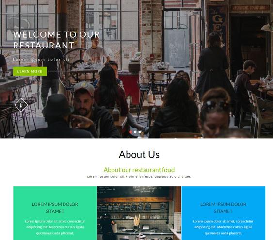 半透明餐厅美食类网站模板_wordpress主题