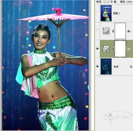 Photoshop曲线修复严重偏暗的舞台照片_亿码酷站___亿码酷站平面设计教程插图3