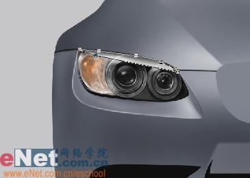 Photoshop鼠绘实例:宝马BMWM3_亿码酷站___亿码酷站平面设计教程插图10
