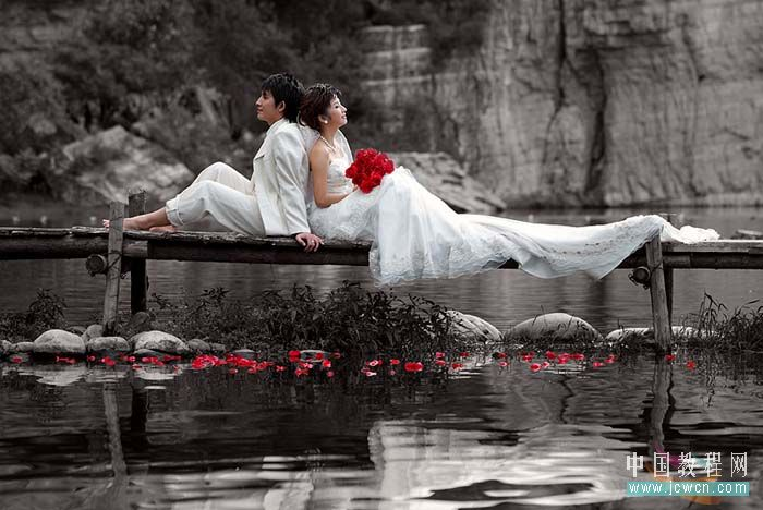 Photoshop调出玛雅婚纱色调_亿码酷站___亿码酷站平面设计教程插图1