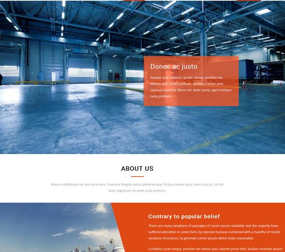 蓝色水泥行业公司网站模板_html网站模板