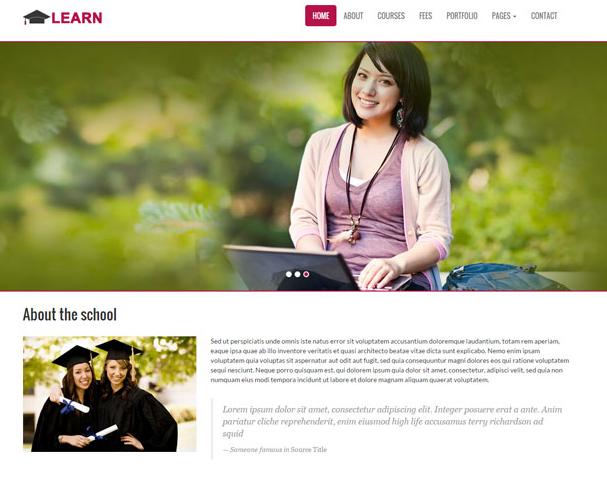 海外留学培训HTML5前端网站模板_企业官网模板