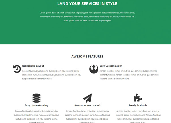 青色技术服务公司网站模板_企业官网模板