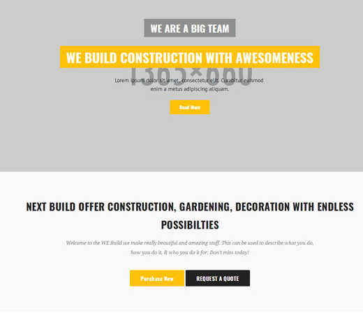 橙灰色建筑施工单位网站模板_亿码酷站