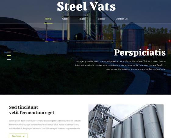 大气工业信息化网站模板下载_php网站模板