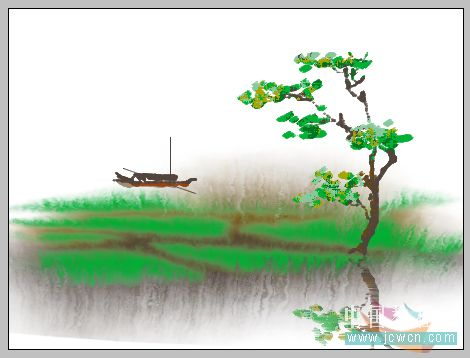 PS鼠绘水彩画效果教程_亿码酷站___亿码酷站平面设计教程插图10
