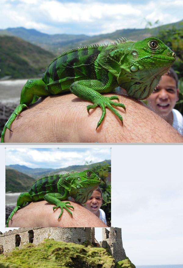 Photoshop图像合成实例:栩栩如生的翼龙_亿码酷站___亿码酷站平面设计教程插图2