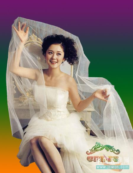 Photoshop复杂背景抠婚纱教程_亿码酷站___亿码酷站平面设计教程插图6