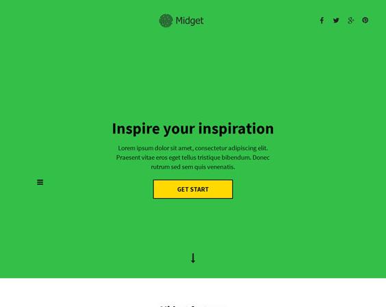 草绿简洁互联网服务公司模板_亿码酷站