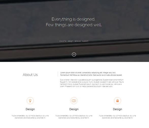 素色简洁工业设计官网模板_企业官网模板