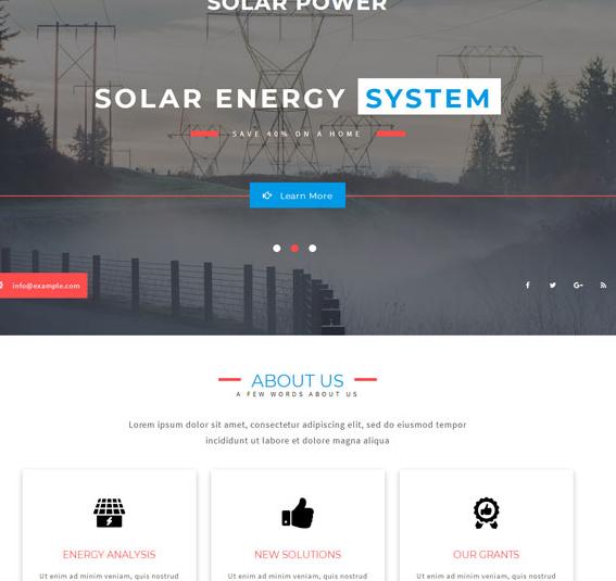 绿色新能源发电厂企业网站模板_html网站模板