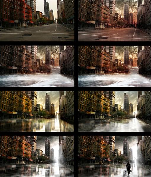 用Photoshop打造一座灾难城市_亿码酷站___亿码酷站平面设计教程插图12