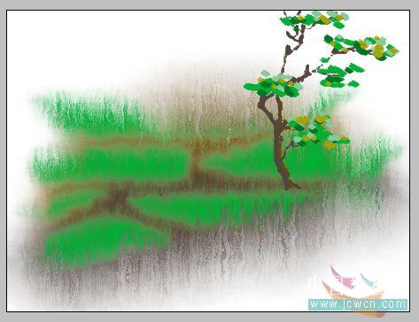 PS鼠绘水彩画效果教程_亿码酷站___亿码酷站平面设计教程插图7