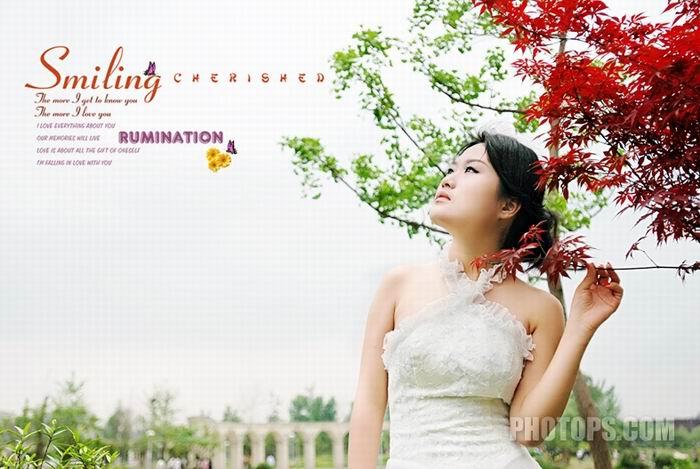 外景婚纱PS综合处理实例_亿码酷站___亿码酷站平面设计教程
