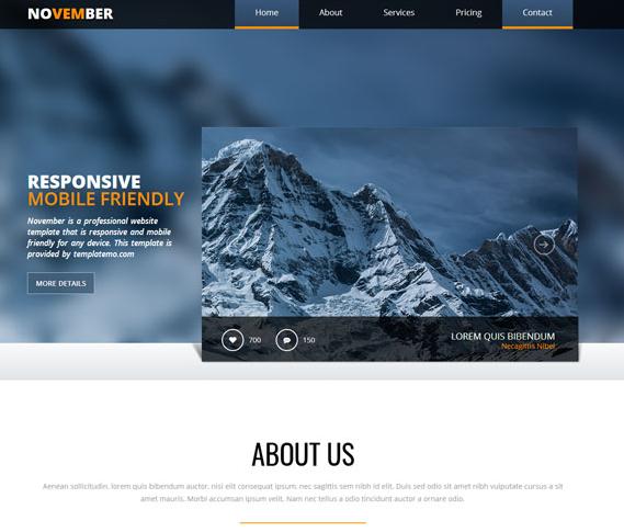 登山雪山风格网站模板_wordpress主题