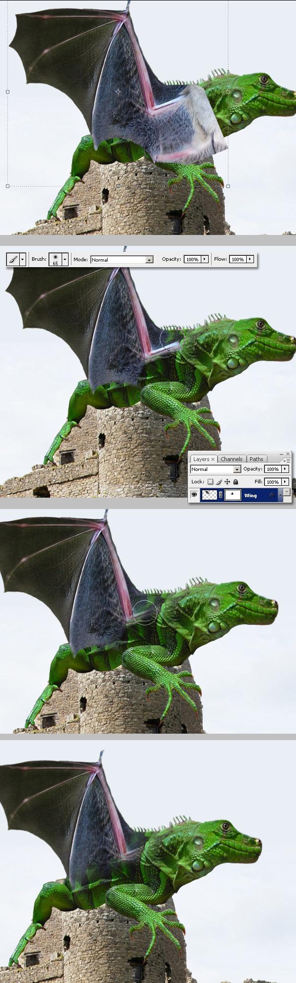 Photoshop图像合成实例:栩栩如生的翼龙_亿码酷站___亿码酷站平面设计教程插图9
