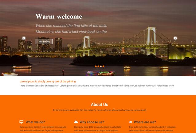 HTML5高端时尚大气前端模板_亿码酷站