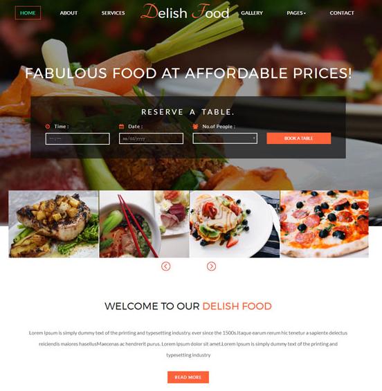 高档酒店餐馆官网网站模板_html网站模板