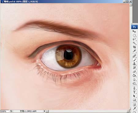 Photoshop精细鼠绘人物眼睛_亿码酷站___亿码酷站平面设计教程插图8