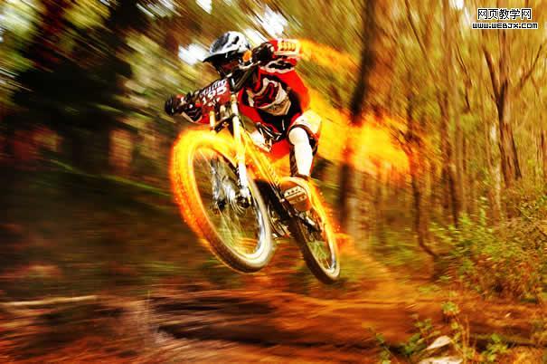 Photoshop打造火速行驶的自行车_亿码酷站___亿码酷站平面设计教程插图1