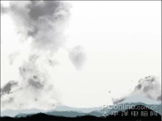 Photoshop制作一张水墨艺术画_亿码酷站___亿码酷站平面设计教程插图9