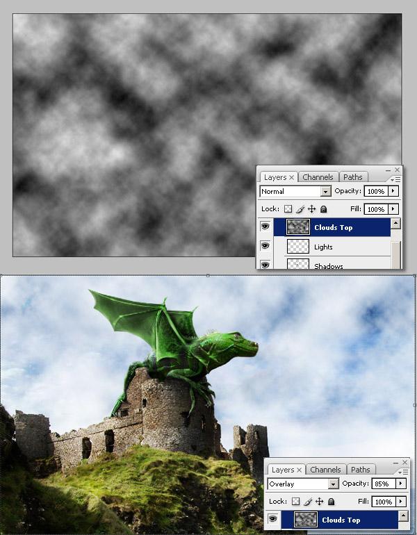 Photoshop图像合成实例:栩栩如生的翼龙_亿码酷站___亿码酷站平面设计教程插图19