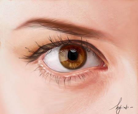 Photoshop精细鼠绘人物眼睛_亿码酷站___亿码酷站平面设计教程
