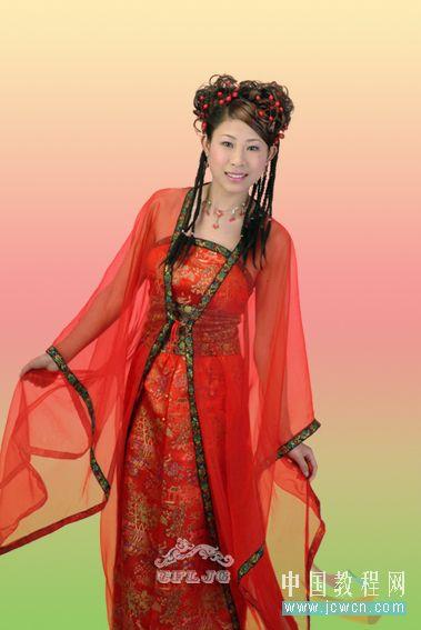Photoshop教程:红色婚纱抠图技巧_亿码酷站___亿码酷站平面设计教程插图9